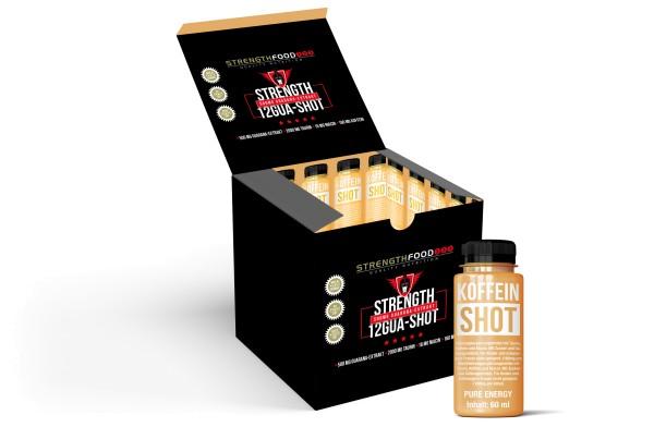 Guarana Shots mit Koffein und Taurin - 12 x 60 ml