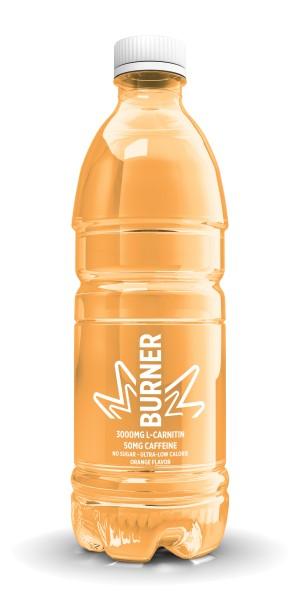 Fatburner Drink mit 3000mg L-Carnitin und 50mg Koffein pro 500ml Flasche - 0g Zucker - 0 kcal - 12 Liter (24 x 500ml)